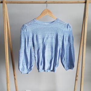 ZARA Baby Blue Cropped Sweater